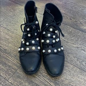 Zara pearl ankle boots